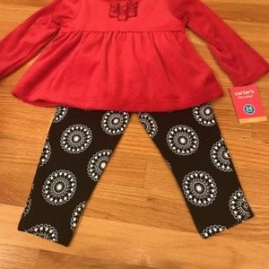 NEW Carter's long sleeve top & long pants  -24 mth